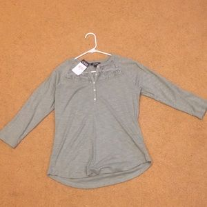 NWT Chaps three-quarter sleeve tee